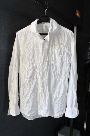 Paris SS10 crumpled white shirt
